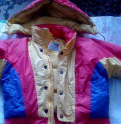Jachetă în jos pentru un băiat de 2-3 ani 98 cm