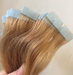 hair on ribbons, new, 55-60 cm