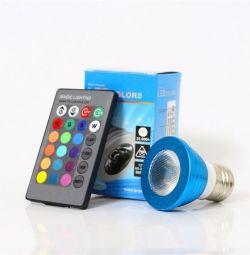 Multicolor lamp RGB 3W E27 with remote control