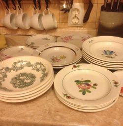 Plates, saucers USSR
