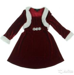 New velvet dress elegant Amy Byer 107-122