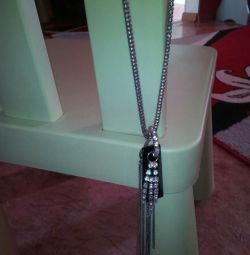 Pendant on a long chain