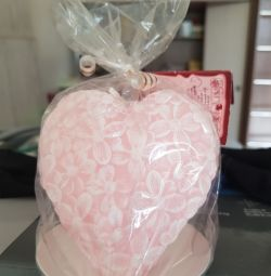 CANDLE DECORATIVE HEART