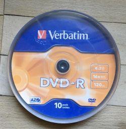 Blank CD-R discs (9 pieces)