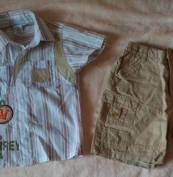 Κοστούμια και βαμβακερά σορτς για ένα αγόρι