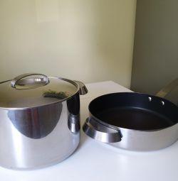 Saucepot 5l + d25cm stewpan