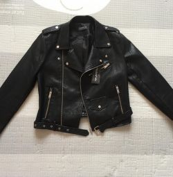 Leather jacket leather jacket (new)