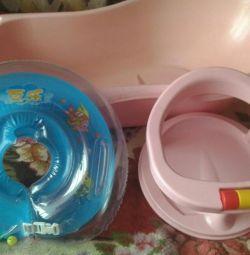 Ванночка, круг и сиденье