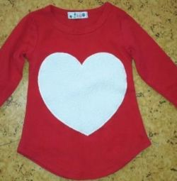 Children's jacket with a big heart 100 cm