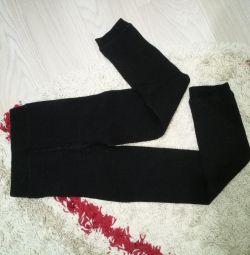 Warm winter black leggings leggings 40-44