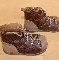Pantofi din piele pentru copii, mărime 22