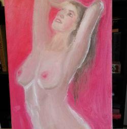 Ελαιογραφία καμβά Γυμνό Ερωτικό Γυμνό Χειροποίητο