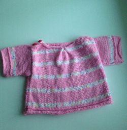 tricotate pentru o fată, de la un an