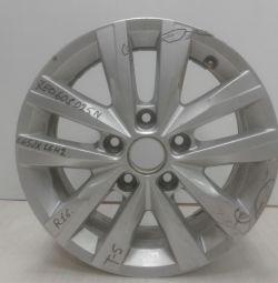 Alloy wheel rim E65JH2 Volkswagen Transporter T6 R16 (15>) oem 7e0601025 (scratches) (cl-3)