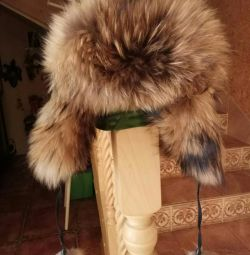 Γυναικείο καπέλο γούνας με λοβό