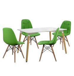 SET TABLES 5T TABLE MINIMAL 120X80-COSY GREEN
