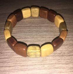 Natural wood bracelet from siberia