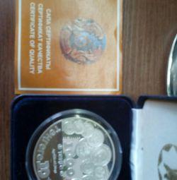 1000 tenge.Gümüş para