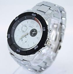 Wrist watch W065, steel