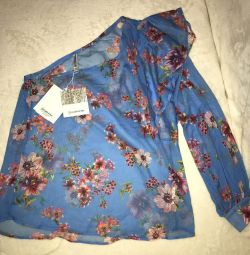 Stradivarius blouse with one shoulder