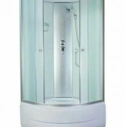Shower cabin Aquapulse 4102D fabric white