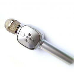 Wireless karaoke microphone Hoco BK4 Silver