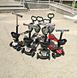 The scooter children's with the parental handle 5 in 1