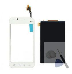 @ Display + touchscreen white assembly Samsung Galaxy