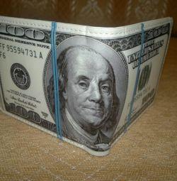 Πορτοφόλι με τη μορφή $ 100 νέα