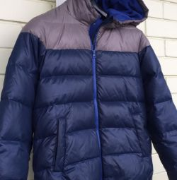 Down jacket on a boy 13 years old Benetton