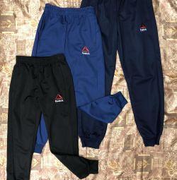 Sport pants, elastane composition, new condition.