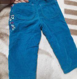 Ζεστά παντελόνια για κορίτσια