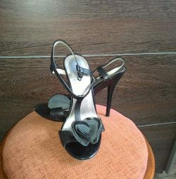 Sandals, genuine leather.