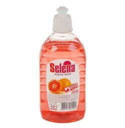 Sapun lichid Orange rosu Selena, 500 ml.