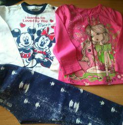 Μπλούζες, tonkovki, πουλόβερ για κορίτσια μέχρι 92 cm