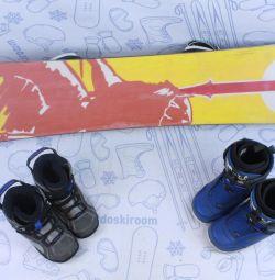Сноуборд Stuf Saga 115 см + крепления + ботинки