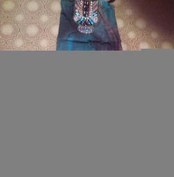 Rochie în podea cu broderie etno + cadou rr 44 rus