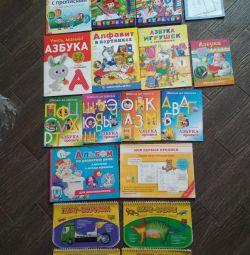 Прописи, азбуки и книги для детей, 2-6 лет.б.у