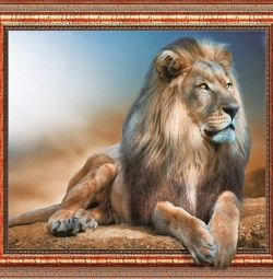 Diamond mosaic 40x50 Big cats with 3D frame