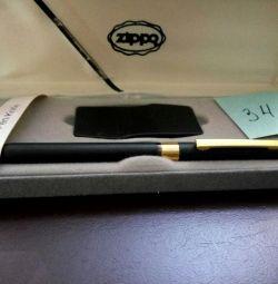 Ballpoint pen and lighter Zippo