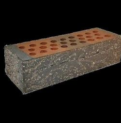 Brick facing Red Flame with dusting sand