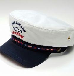 Paul Shark Yachting кепка капитанка (белый)