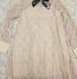 Нове мереживне плаття кольору слонової кістки бант