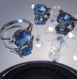 Серeжки + перстень