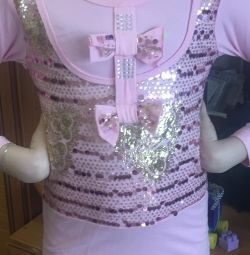 Tunic for a girl 5-8 years old