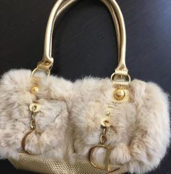 Fur rabbit handbag