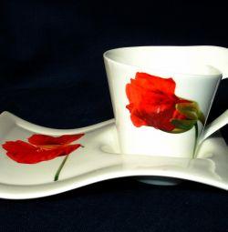 Çay çifti, porselen, yeni