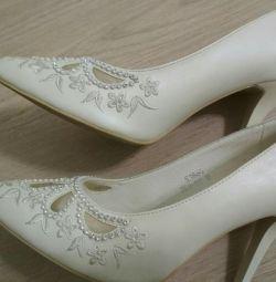 Pantofi de nunta (color aivor) 37 р