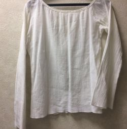 One shoulder cotton tunic