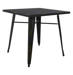 TABLE METAL IN COLOR BLACK PATINA HM0608.40